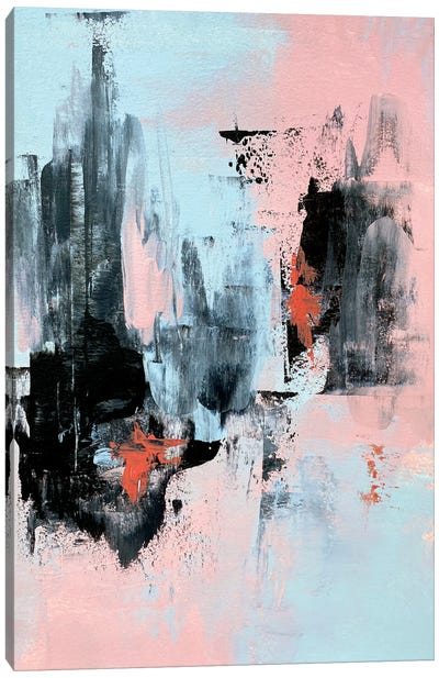 Pink And Grey Abstract III Canvas Art Print