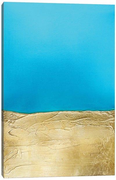 Azure Gold Canvas Art Print