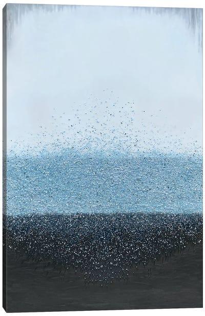 Blue Crystal Rain Canvas Art Print