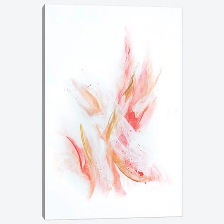 Rose Gold Ribbons Canvas Print #SPB40} by Spellbound Fine Art Canvas Artwork