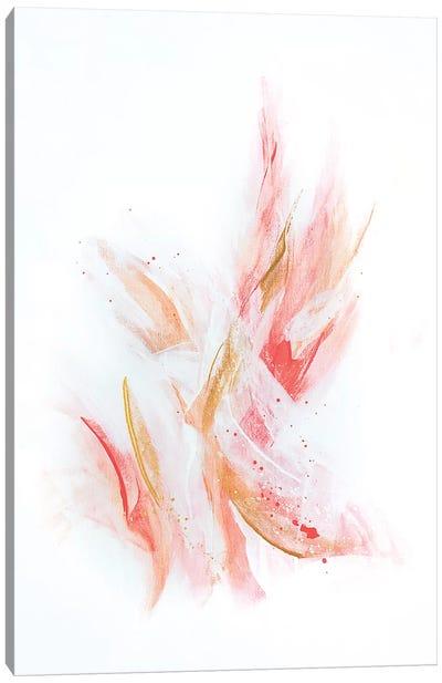 Rose Gold Ribbons Canvas Art Print