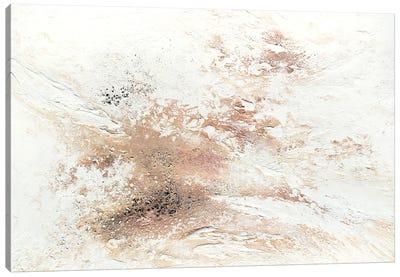 Rose Gold Snow Canvas Art Print