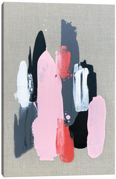 Pink Black And Grey  I Canvas Art Print