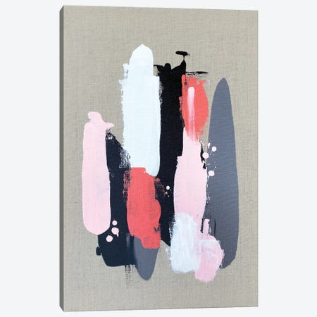 Pink Black And Grey  II Canvas Print #SPB94} by Spellbound Fine Art Canvas Art