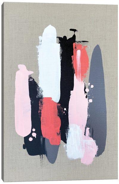 Pink Black And Grey  II Canvas Art Print