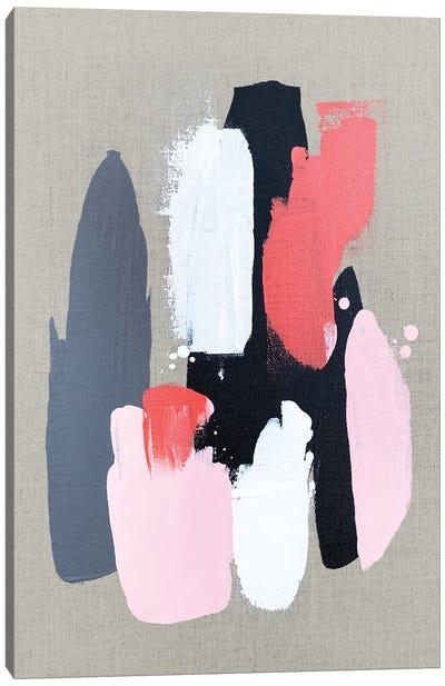 Pink Black And Grey  III Canvas Art Print