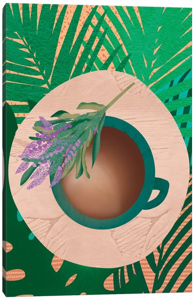 Coffee and Lavender Canvas Art Print