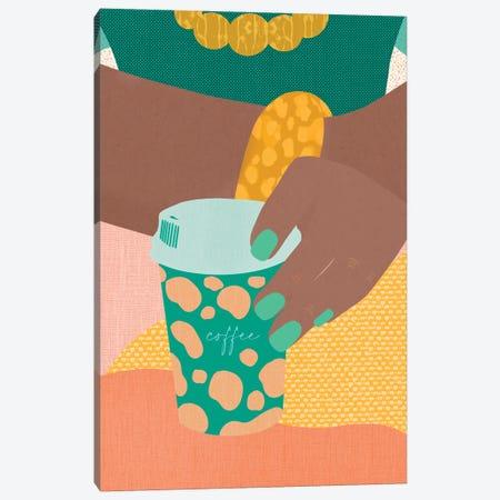 Coffee To Go Canvas Print #SPC23} by Sagmoon Paper Co. Canvas Print