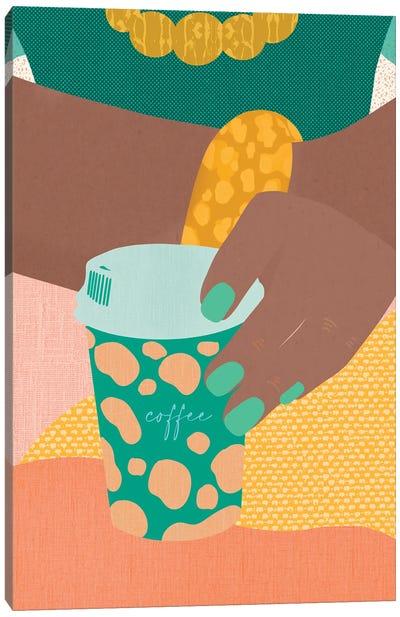 Coffee To Go Canvas Art Print