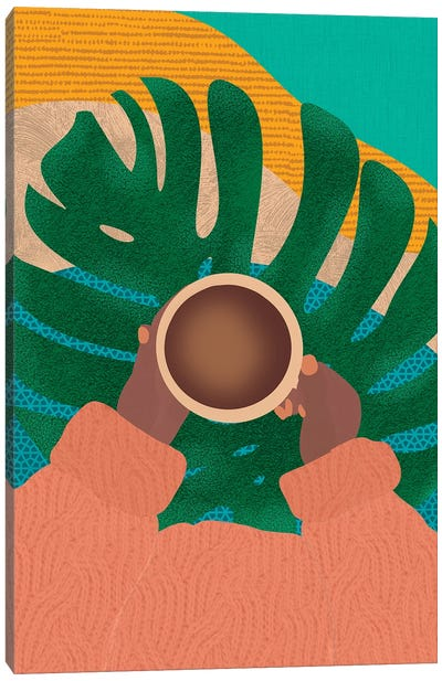 Coffee And Plants Canvas Art Print