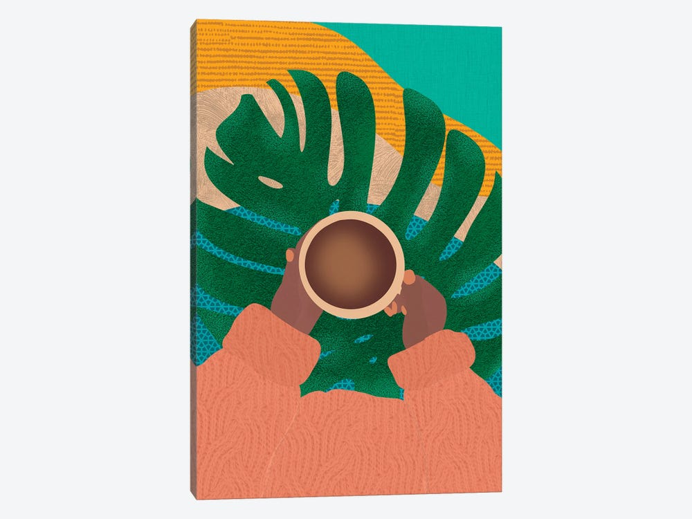 Coffee And Plants by Sagmoon Paper Co. 1-piece Canvas Print