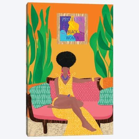 Protect Black Women Canvas Print #SPC26} by Sagmoon Paper Co. Canvas Wall Art