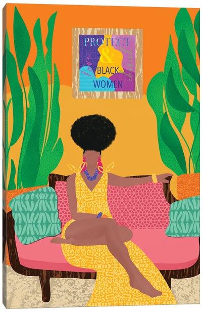 Protect Black Women Canvas Art Print
