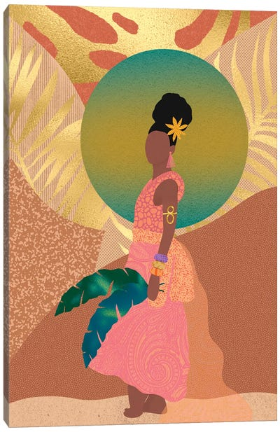 Island Gal Canvas Art Print