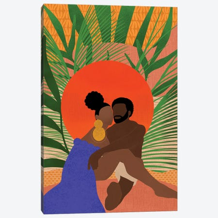 Black Couple Canvas Print #SPC29} by Sagmoon Paper Co. Canvas Art Print