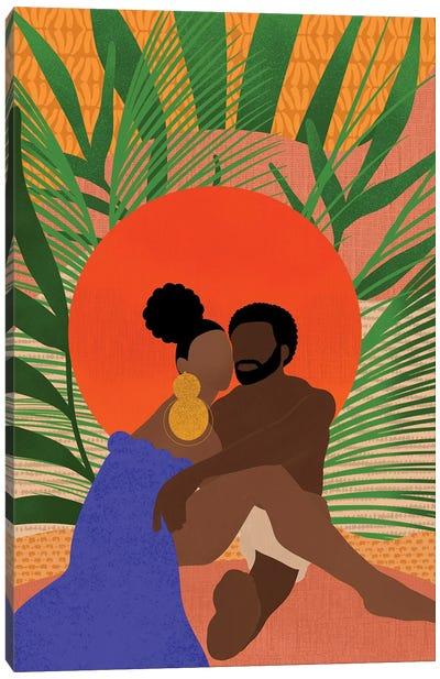 Black Couple Canvas Art Print