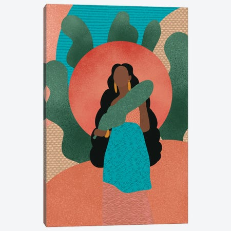 Black Woman in Nature Canvas Print #SPC30} by Sagmoon Paper Co. Canvas Art