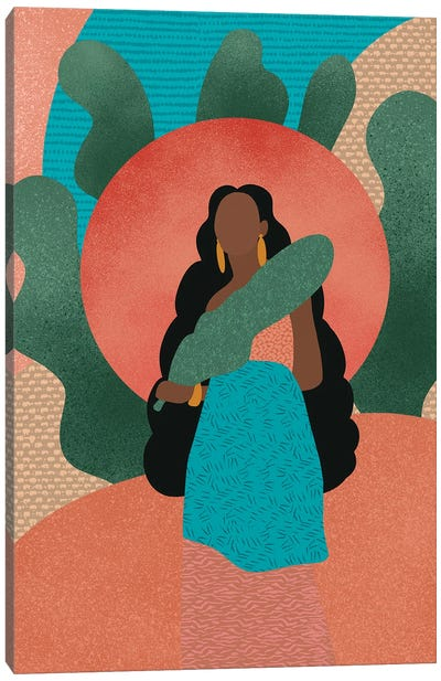 Black Woman in Nature Canvas Art Print