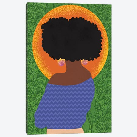 Fros and Greenery Canvas Print #SPC39} by Sagmoon Paper Co. Canvas Wall Art