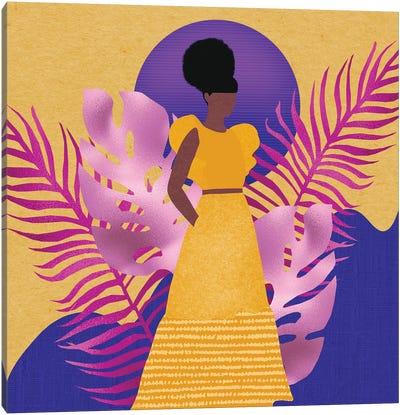 Yellow Rising Canvas Art Print