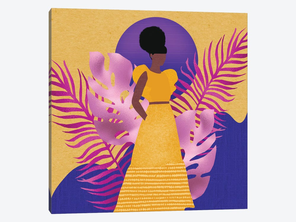 Yellow Rising by Sagmoon Paper Co. 1-piece Canvas Wall Art