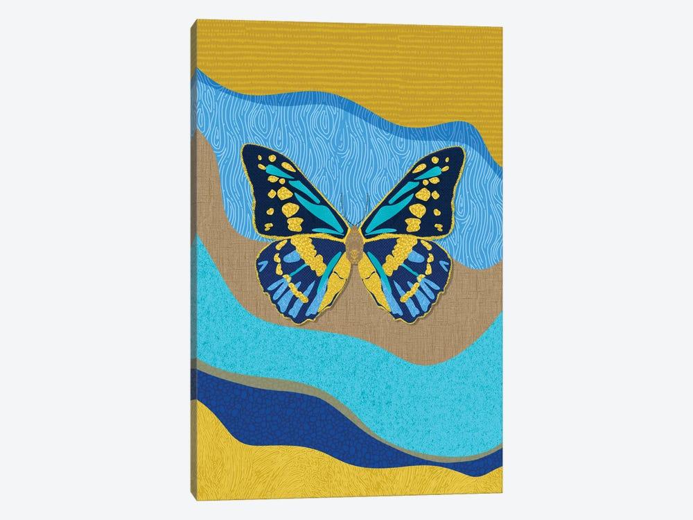 Blue Butterfly by Sagmoon Paper Co. 1-piece Art Print