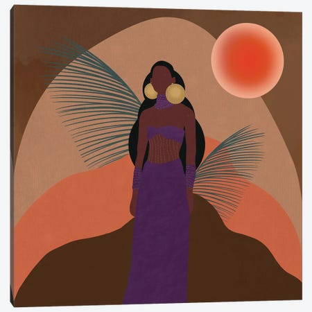 Desert Sunset Canvas Print #SPC4} by Sagmoon Paper Co. Canvas Art