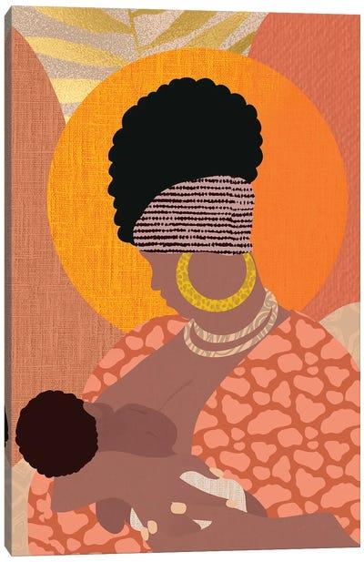 Nursing Mother Canvas Art Print
