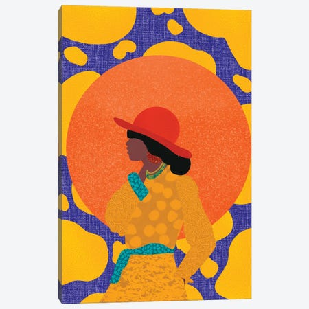 Golden Red Canvas Print #SPC60} by Sagmoon Paper Co. Canvas Print