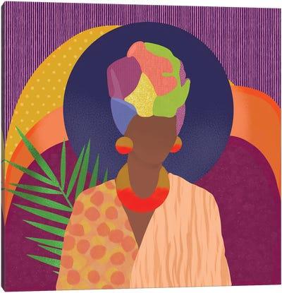 Black Woman In Headwrap Canvas Art Print