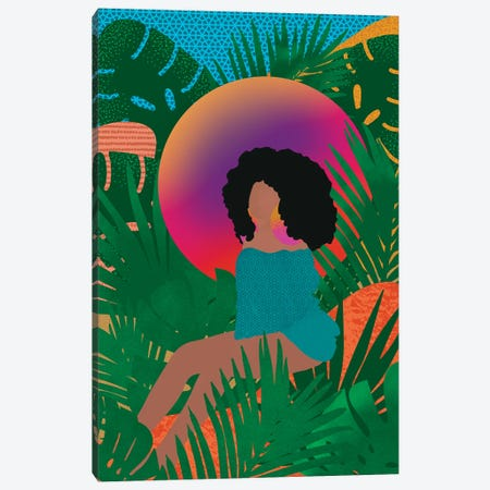 Wilderness And Afros Canvas Print #SPC69} by Sagmoon Paper Co. Canvas Art Print