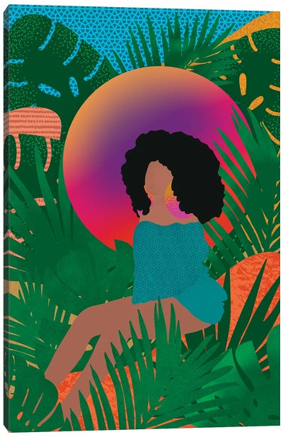 Wilderness And Afros Canvas Art Print