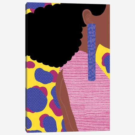 Her Profile Canvas Print #SPC71} by Sagmoon Paper Co. Canvas Artwork