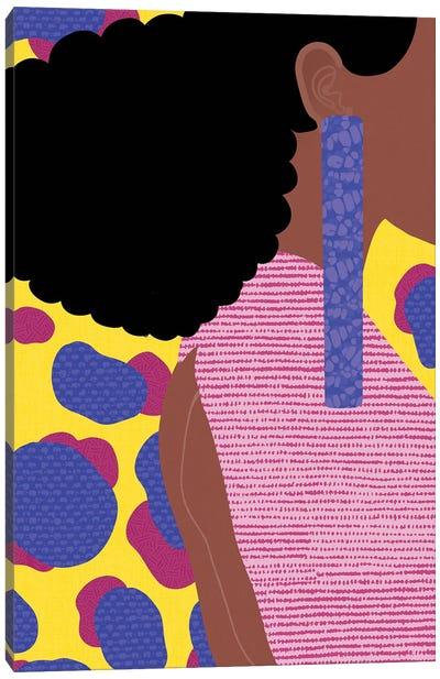 Her Profile Canvas Art Print
