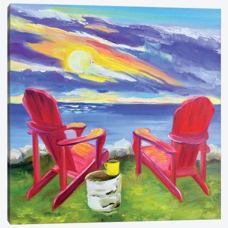 Muskoka Chairs Canvas Print #SPE19} by Jill Sapiente Canvas Art