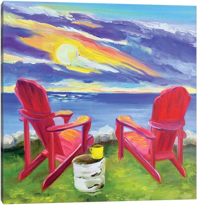 Muskoka Chairs Canvas Art Print