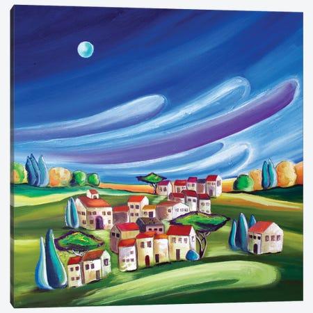 Village On The Hill Canvas Print #SPE2} by Jill Sapiente Canvas Art Print