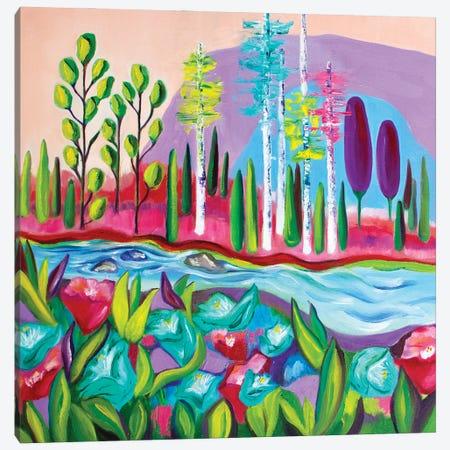 The Riverside Canvas Print #SPE3} by Jill Sapiente Canvas Print