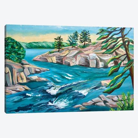 Burleigh Falls Canvas Print #SPE7} by Jill Sapiente Canvas Artwork