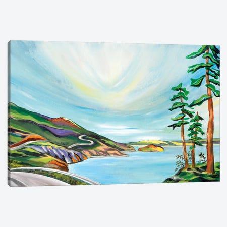 Driving The Cabot Trail Canvas Print #SPE8} by Jill Sapiente Canvas Art Print