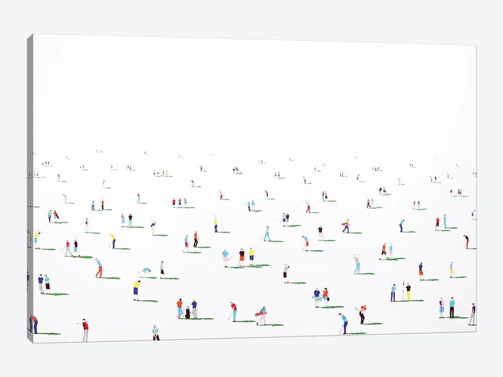 Golfers X by Stephanie Ho 1-piece Canvas Art