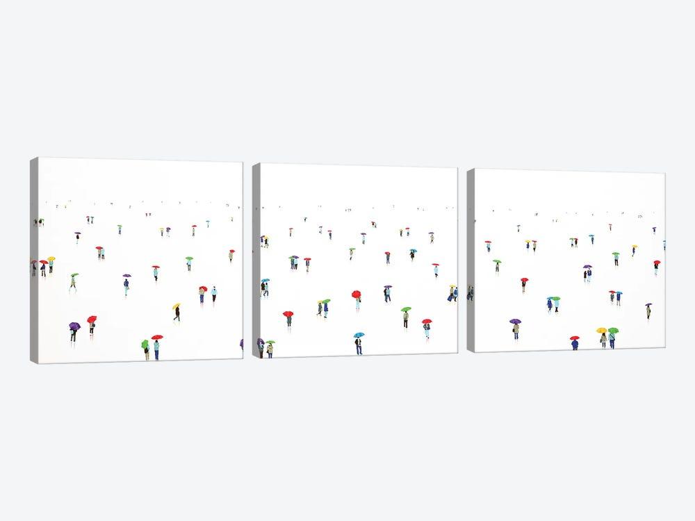 Rain-Bow XII by Stephanie Ho 3-piece Canvas Art Print