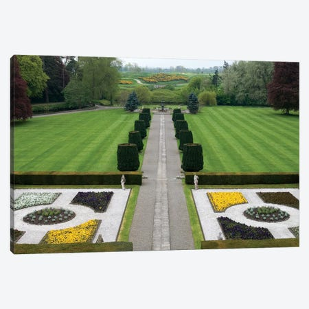 Formal Panel Garden & Avenue, The K Club, Straffan, County Kildare, Leinster Province, Republic Of Ireland Canvas Print #SPI2} by Sergio Pitamitz Art Print