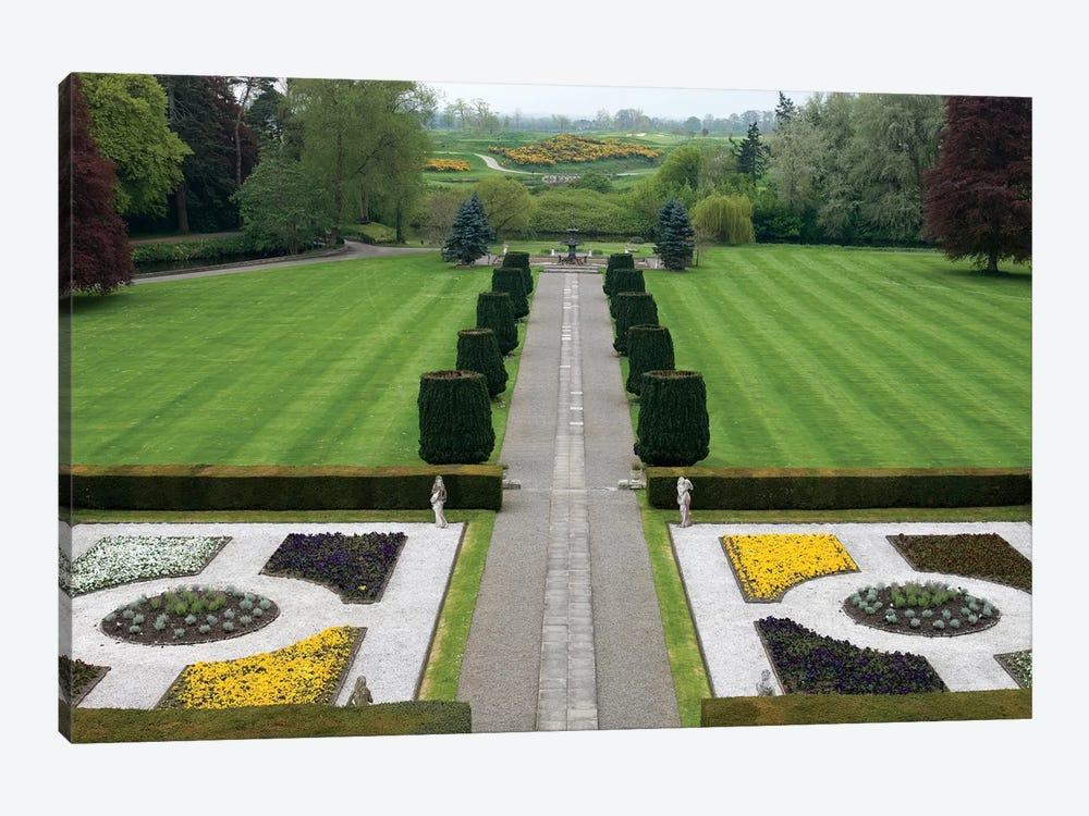 Formal Panel Garden & Avenue, The K Club, Straffan, County Kildare, Leinster Province, Republic Of Ireland by Sergio Pitamitz 1-piece Canvas Print