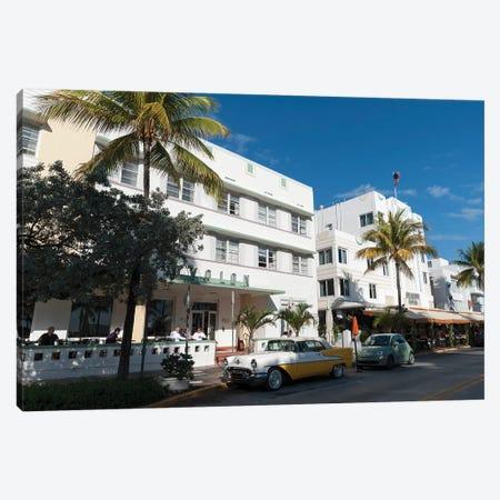 Ocean Drive, South Beach, Miami Beach 3-Piece Canvas #SPI8} by Sergio Pitamitz Canvas Art Print