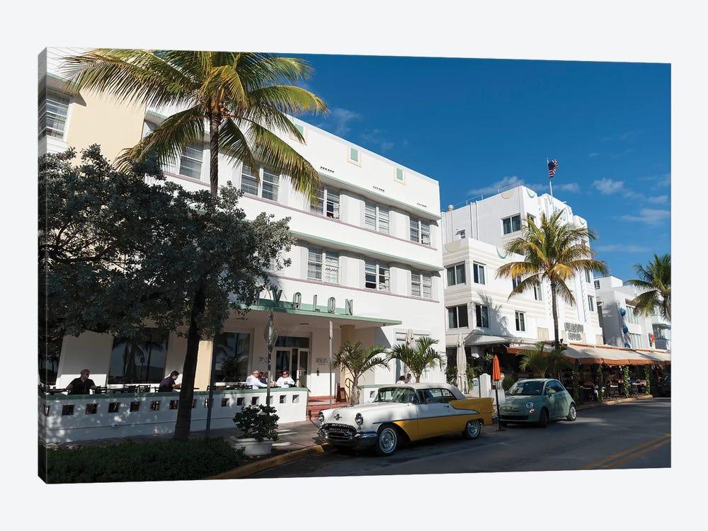 Ocean Drive, South Beach, Miami Beach by Sergio Pitamitz 1-piece Canvas Art Print