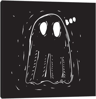 Spooky Cut Ghost Canvas Art Print