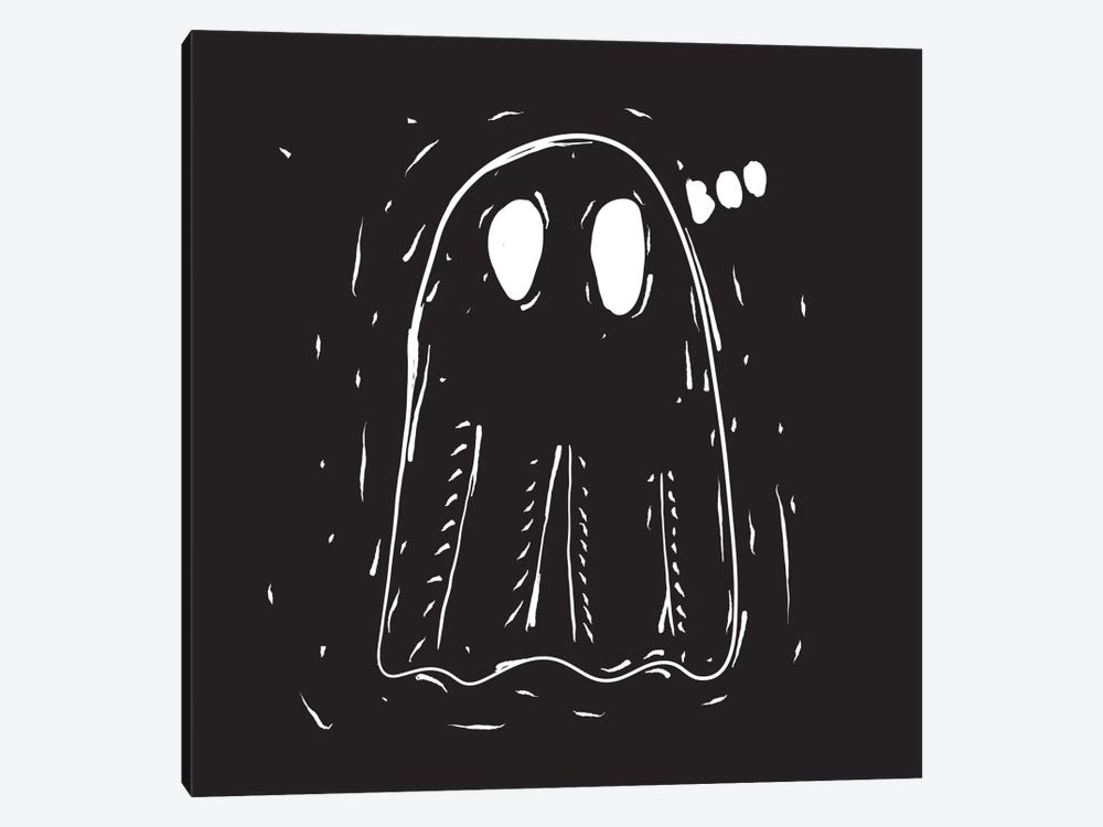 Spooky Cut Ghost by 5by5collective 1-piece Canvas Wall Art