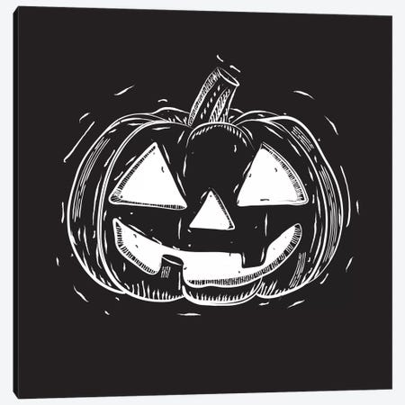 Spooky Cut Jack-O'-Lantern Canvas Print #SPK3} by 5by5collective Art Print