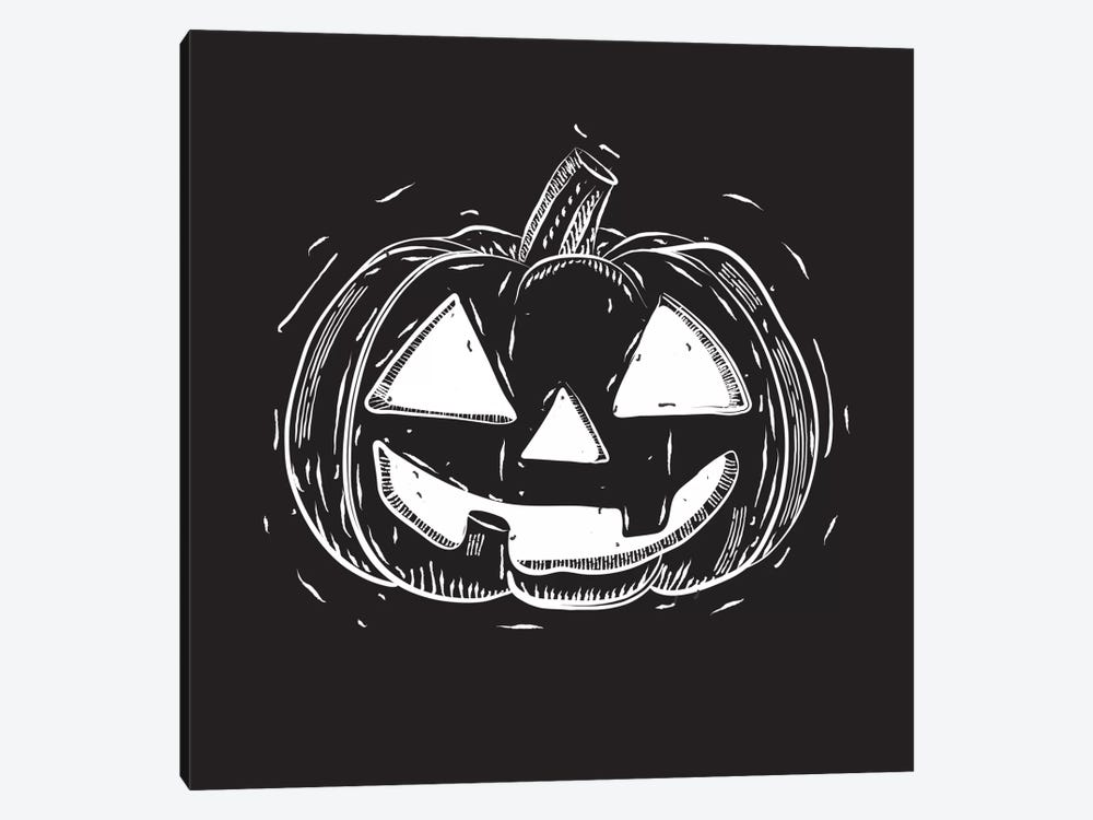 Spooky Cut Jack-O'-Lantern by 5by5collective 1-piece Canvas Wall Art